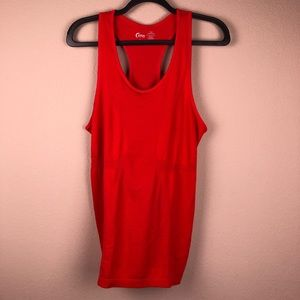 ZYIA Red Copper Charged Racer Tank Large